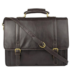 Andre Leather Briefcase (Black, Brown or Green) - Classic Bags