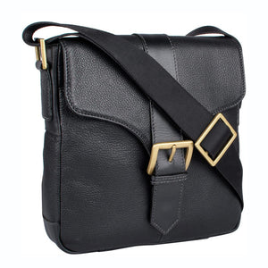 Bleaklow 03 Leather Cross Body Bag (Black) - Classic Bags