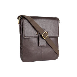 Bowfell 01 Leather Cross Body Bag (Brown) - Classic Bags