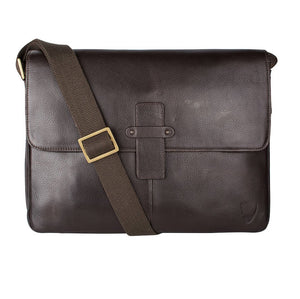 Bowfell 03 Leather Messenger Bag (Brown) - Classic Bags