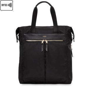 Chiltern Ladies Leather Tote Backpack (Black) - Classic Bags
