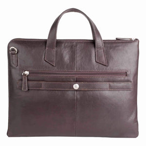Eastwood 01 Leather Folio Briefcase (Brown or Black) - Classic Bags