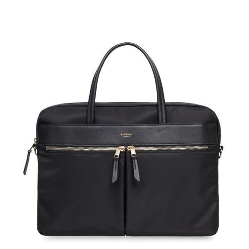 Hanover Ladies Leather Briefcase (Black) - Classic Bags