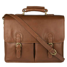 Hugo Leather Briefcase (Black, Brown or Tan) - Classic Bags