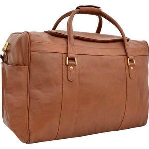 Jonty Mens Leather Holdall (Black, Brown or Tan) - Classic Bags