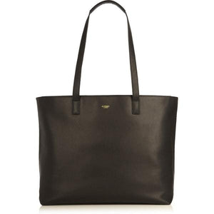 Maddox Leather Top Zip Tote (Black) - Classic Bags