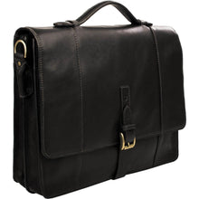 Maverick 02 Leather Briefcase (Black or Brown) - Classic Bags