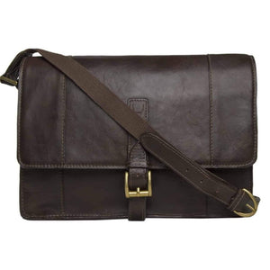 Maverick 03 Leather Messenger Bag (Brown) - Classic Bags