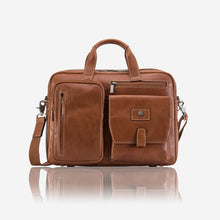 Montana 3661 Leather Laptop Briefcase (Colt) - Classic Bags