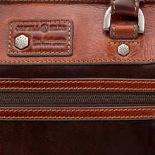 Oxford 3684 Leather Laptop Briefcase (Brown or Black) - Classic Bags