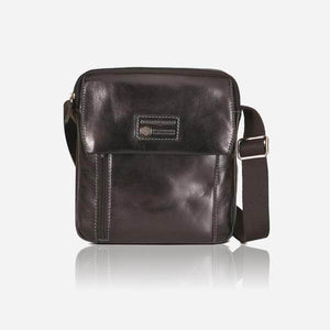 Oxford 3810 Leather Cross Body Bag (Brown or Black) - Classic Bags