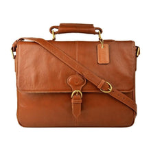 Parker 01 Leather Briefcase (Black, Brown or Tan) - Classic Bags
