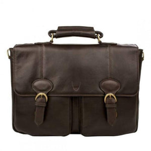 Parker 02 Leather Briefcase (Tan, Brown, Black) - Classic Bags
