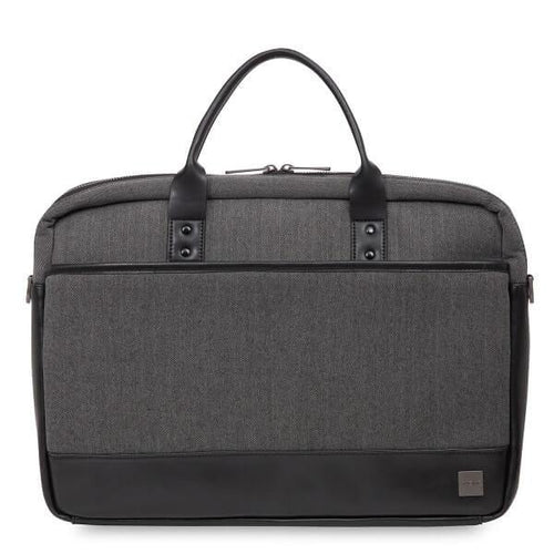 Princeton Laptop Briefcase (Grey) - Classic Bags