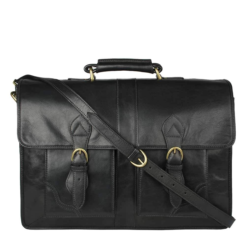 Review Leather Briefcase (Black, Brown or Tan) - Classic Bags