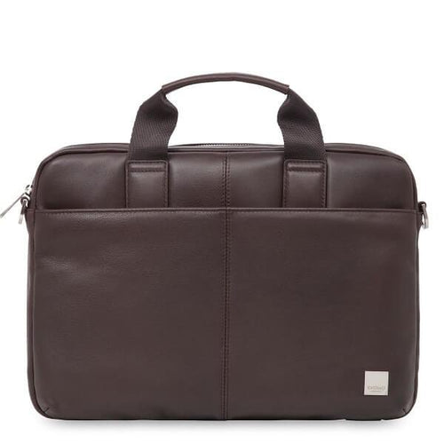 Stanford Small Leather Laptop Briefcase (Brown or Black) - Classic Bags
