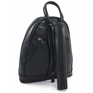 Stevie Ladies Leather Backpack (Black) - Classic Bags