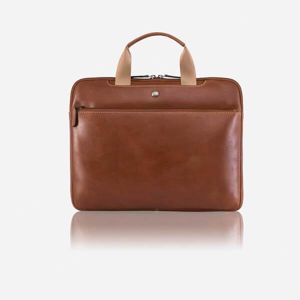 Texas 2437 Leather Laptop Briefcase (Brown or Black) - Classic Bags