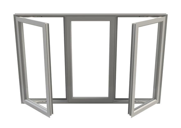 Double Pane Aluminum Casement Fixed Casement Window