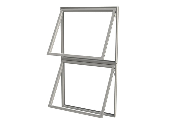 Double Pane Aluminum Double Awning Window