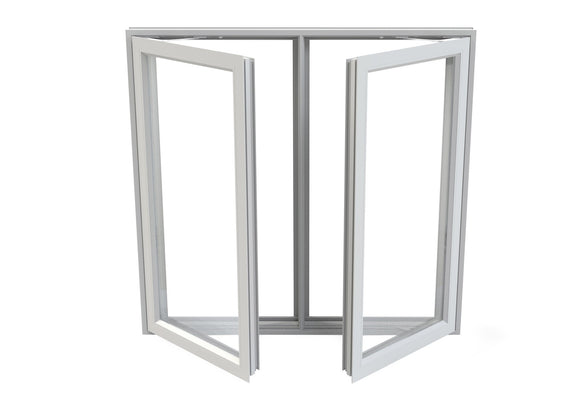 Double Pane Aluminum Twin Casement Window