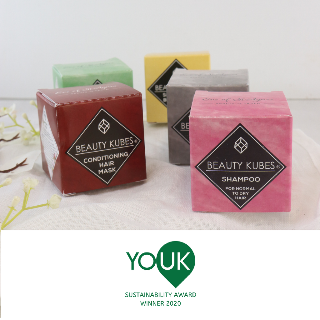 Beauty Kubes announced as a YouK Sustainability Award 2020 Winner!