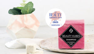 Plastic free beauty kubes shampoo palm free vegan friendly