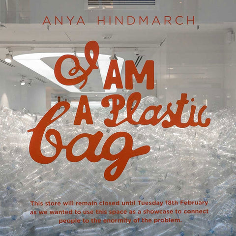 Anya Hindmarch Plastic free I am not a plastic bag London Fashion Week