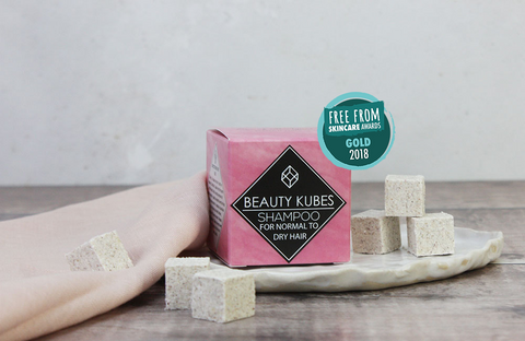 Zero waste beauty kubes shampoo gold award winner