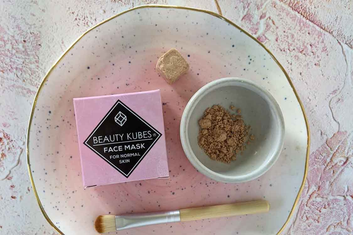 beauty kubes plastic free face mask palm free and vegan