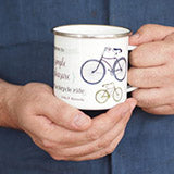 fathers day bicycle mug gift