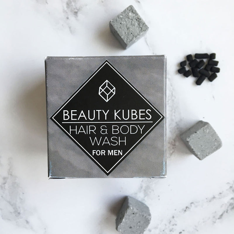 Plastic free shampoo and Body Wash For men, vegan friendly - Beauty Kubes