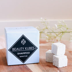 Beauty Kubes plastic free shampoo for sensitive skin, vegan, zero waste