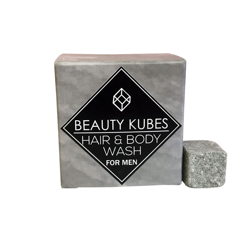 Plastic free shampoo for men, vegan friendly - Beauty Kubes