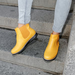 Ghete dama Alexa - Yellow Leather