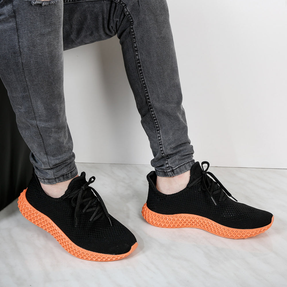 Adidasi barbati Jimmy-black/orange