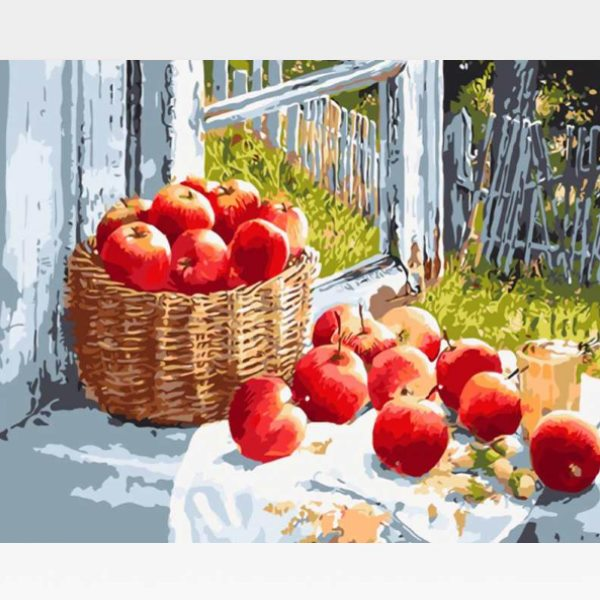 Apples Paint By Numbers Kit For Adults - Painting By Numbers Kit - Artwerkes