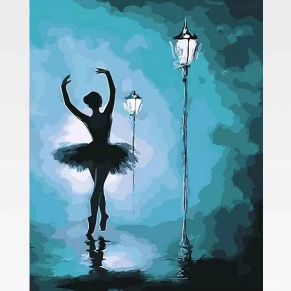 Ballerina Paint By Numbers - Ballerina Acrylic Painting - Painting By Numbers Kit - Artwerkes