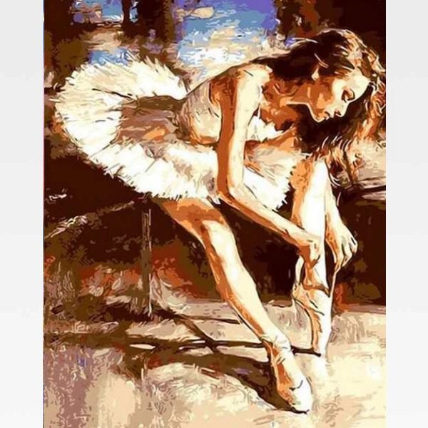 Ballerina Paint By Numbers - Ballet Painting - Painting By Numbers Kit - Artwerkes