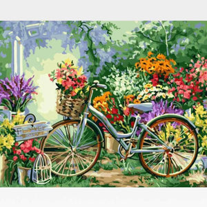 Bicycle Paint By Numbers Kit For Adults - Painting By Numbers Kit - Artwerkes