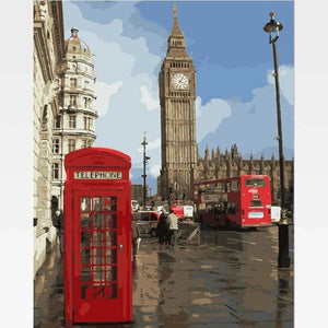 Big Ben Paint By Numbers Kit - Painting By Numbers Kit - Artwerkes