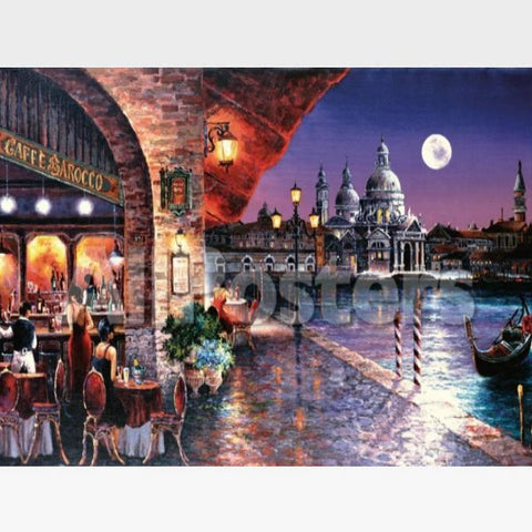 Image of Cafe Barocco Paint By Numbers Kit - Painting By Numbers Kit - Artwerkes