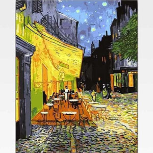 Cafe Terrace At Night - Paint By Numbers  Kit - Van Gogh - Painting By Numbers Kit - Artwerkes