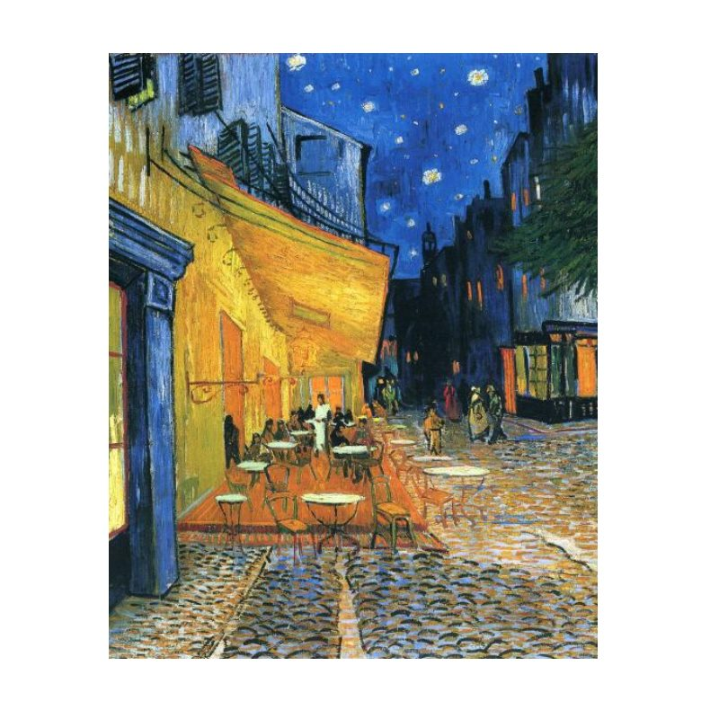 Cafe Terrace At Night - Van Gogh (30x40cm) - Painting By Numbers Kit - Artwerkes