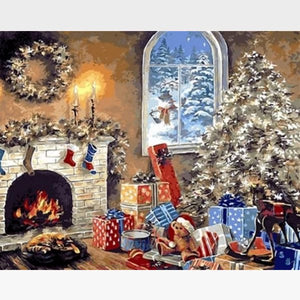 Christmas Decoration - DIY Paint by Numbers Kits for Adults - Painting By Numbers Kit - Artwerkes
