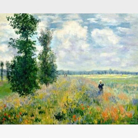 Claude Monet - Poppy Fields near Argenteuil - Paint by Numbers Kit - Painting By Numbers Kit - Artwerkes