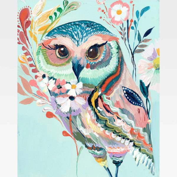 Colorful Owl Paint By Numbers Kit - Painting By Numbers Kit - Artwerkes