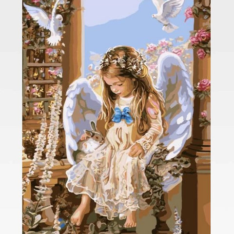 DIY Angel Paint By Numbers Kit Online  - Angel Wings - Painting By Numbers Kit - Artwerkes