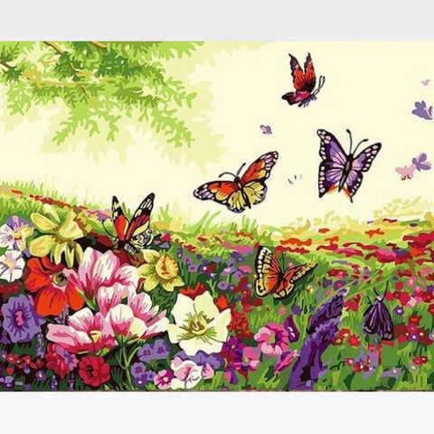 Image of DIY Butterfly Paint By Numbers Kit Online  - Spring Festival - Painting By Numbers Kit - Artwerkes