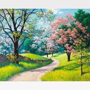 DIY Cherry Blossom Paint By Numbers Kit - Painting By Numbers Kit - Artwerkes
